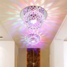 5w LED Modern Crystal Downlight Ceiling Light Fixture Recessed Spotlight Hallway Warm White