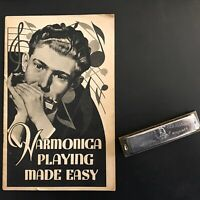 Hohner Harmonica with Instruction Booklet Vintage Bundle Germany Instrument
