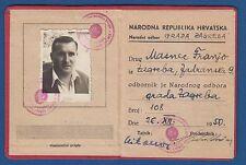 National Republic of Croatia, Identity ID card 1950, Narodna Republika Hrvatska