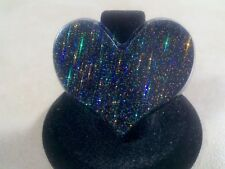 Fashion Ring Black Heart New Adjustable Gold Plated Cocktail Charm Jewelry Gift