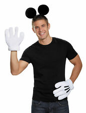 Mickey Mouse Ears Adult Kit Gloves And Headband Halloween Dress Up Disguise