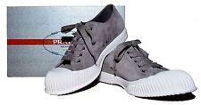 PRADA Suede Cap Toe Sneakers, Gray Size US 9D PRADA Size 8 ITALY $650