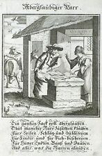 WAHRSAGER - Aberglaubiger Narr - Abraham a Sancta Clara - Kupferstich 1709