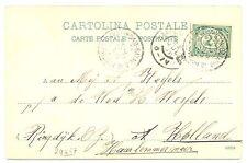 NEDERLAND SMN 1906-7-16  AK  = SHIP-S.S. ORANJE = -POSTAGENT-   F/VF