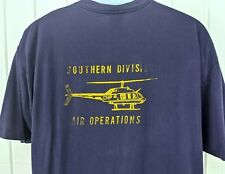 Vintage 80s Southern Division Air Operations California CHP Helicopter T Shirt