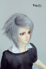 BJD Doll Wig 6-7'' 7-8'' 8-9''Gray Mohari Wig  Free Style  1/6,1/4,1/3 Uncle HH8