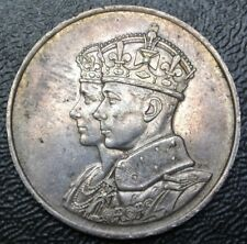 OLD CANADIAN COIN 1939 FIRST ROYAL VISIT - .925 SILVER - George VI - Huge 33mm