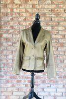 NWT CAbi Gold Long Sleeve Leather Jacket
