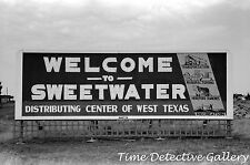 Welcome to Sweetwater, Texas Sign - 1939 - Historic Photo Print
