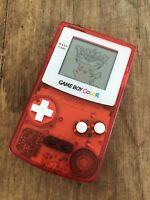 Nintendo GameBoy Color Refurbished Colour Game Boy Handheld GBC Clear Red White