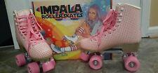 New Womens Impala Roller Skates size 9 usa Pink Tartan Vegan Approved
