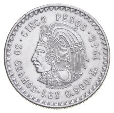 SILVER - WORLD COIN - 1948 Mexico 5 Pesos - World Silver Coin *733