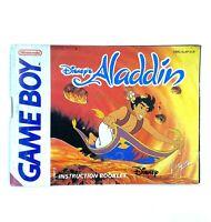 Notice jeu Nintendo Game Boy Disney Aladdin PAL FAH Instruction Booklet