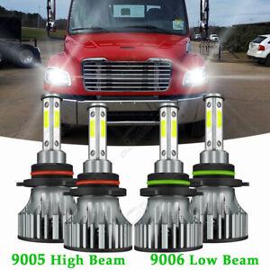 For Freightliner M2 100 106 112 - K9 4X 6000K LED Headlight Hi/Lo Beam Bulbs Kit