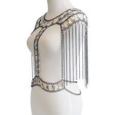 Necklace Chain Harness Bikini Jewelry Fashion Tassel Crystal Shoulder Body