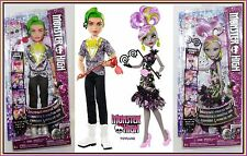 WELCOME to MONSTER HIGH Dance the Fright Away MOANICA D'KAY & DEUCE 2 Doll Set !