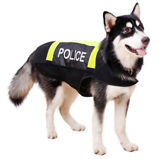 Dog Police Vest Dog High Vision Night Safe Reflective Protection Bright Yellow