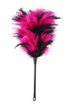 Plumero erótico Rosa y Negro 40 cm