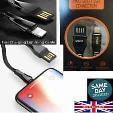 For Apple iPhone iPad Genuine Heavy Duty Lightning USB Cable Charger Flat Speedy