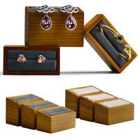 3x Wooden Jewelry Display Stand Rack Rings Earrings Bracelets Bangle Holder