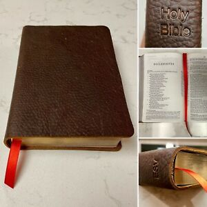 Rustic Hand Bound ESV Cowhide Leather Bible