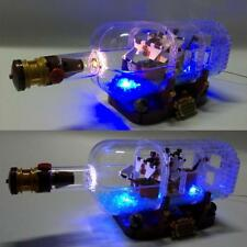 For  21313/16051 Ideas Ship In A Bottle With LED lights Brand New Sealed