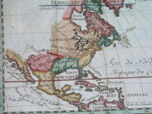 125 NICE ORIGINAL MAP UNITED STATES CANADA FLORIDA LOUISIANA GEORGIA NEW YORK