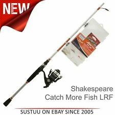 Shakespeare Catch More Fish 2 LRF 7ft Spin Rod & Reel Combos 5-15Gm For Fishing