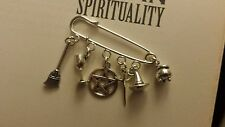 Pagan Wicca/Witch Craft Tools Sil-Plated Cloak Pin/Brooch cauldron just added