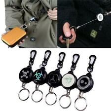 Recoil Extendable Metal Wire Retractable Key Chain Ring Clip Keyring Gift NEW S