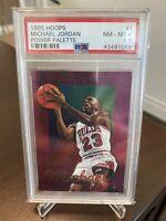 Michael Jordan Card 1995-96 Hoops Power Palette #1 Chicago Bulls PSA 8.5