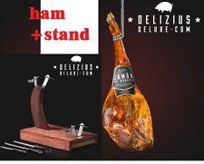 6 kg Spanish obstructive Ham biche Leg Serrano Jamon + Ham Stand Holder + 2 Slicers