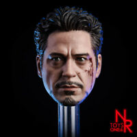 Iron Man MK7 Battle Damaged Head Sculpt 1/6 Fit 12'' Action Figure Painted NRtoy