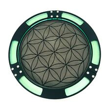Flower of Life Dice Tray With Vegan Leather Rolling Surface