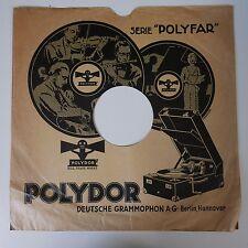 "12"" 78rpm paper gramophone record sleeve POLYDOR  / DEUTSCHE GRAMMOPHON"