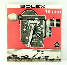 Genuine Bolex 16mm Brochure, Accessories, Camera and lens comparisons