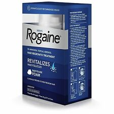 2 Boxs Men's Rogaine 5% Minoxidil Hair Regrowth Treatment Foam  6 Months Supply