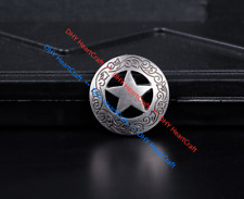 10PCS 2.8 CM ANTIQUE Sliver WESTERN HEADSTALL STAR CONCHOS RIVETBACK FOR CRAFT