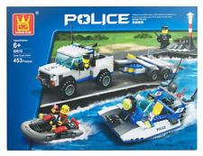 Coast Guard Patrol Police Set Building Blocks Bricks- Wange