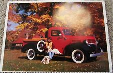 1947 Dodge WC 1/2 Ton Pickup truck print (red & black)