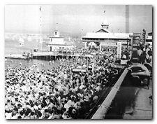 Orange County Vintage Old City Newport Beach Black And White Art Print (16x20)