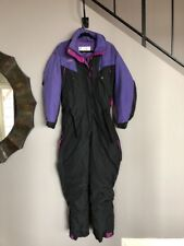 Women's Columbia Insulated Ski Snow Suit, Snowsuit, Black and Purple Women's L