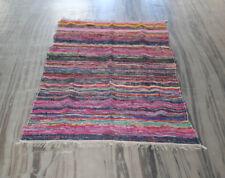 Vintage Sari Kilim Rag Rug's Area Throw Runner Carpet 4x6 Reversible Chindi Rug