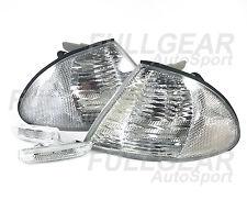 CHROME w/ CLEAR LENS CORNER LIGHT & SIDE MARKER FOR BMW E46 4DR SEDAN 1999-2001
