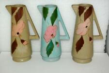 3 Art Deco Matte Satin Glaze China Pottery Ceramic Pitchers Made in England