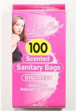 5 x 100 Disposable Scented Sanitary Bags Towel Degradable Feminine Hygiene