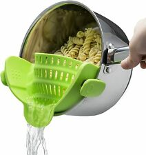Kitchen Gizmo Snap N Strain Strainer, Clip On Silicone Colander, Suits all Pots