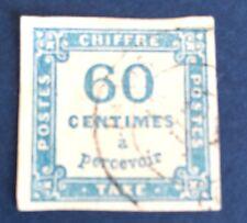 France .taxe N° 9 60 C Bleu Obli TTB choix Côte 150€