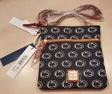 Dooney & Bourke NCAA Penn State Double Zip Crossbody Navy At67ps Bag Purse