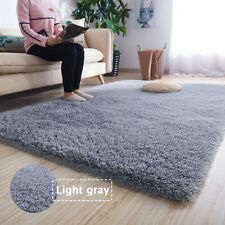 Fluffy Rug Anti-Slip Comfortable Shaggy Rug Soft Carpet Mat Light Gray 60*120cm